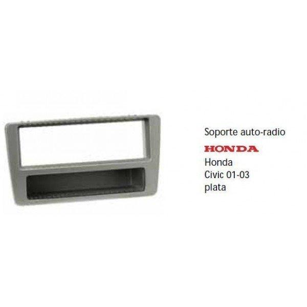 Soporte auto radio  Honda Civic 01-01 plata Ref: TR499