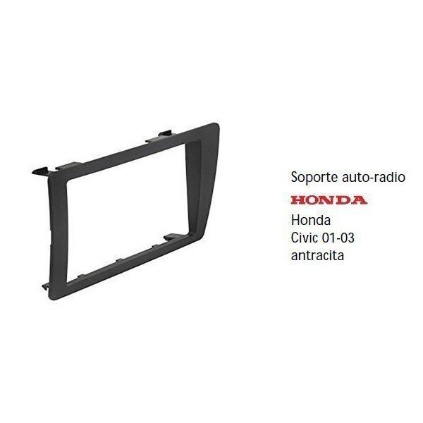 Fascia panel  Honda Civic 01-01 metal black Ref: TR500
