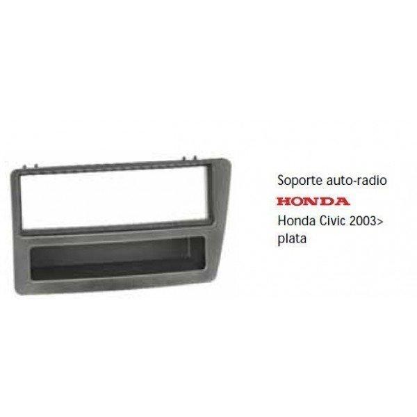 Soporte auto radio Honda Civic 2003- plata Ref: TR501