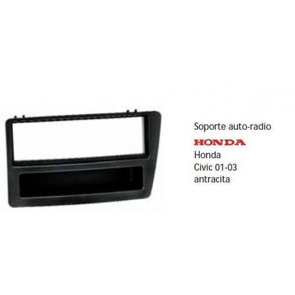 Fascia panel Honda Civic 01-03 metal black Ref: TR502