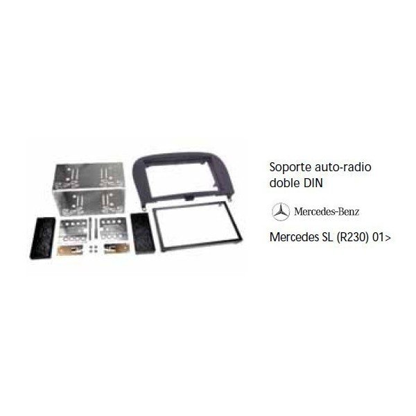 Soporte auto radio Mercedes SL R230 01- Ref: TR584
