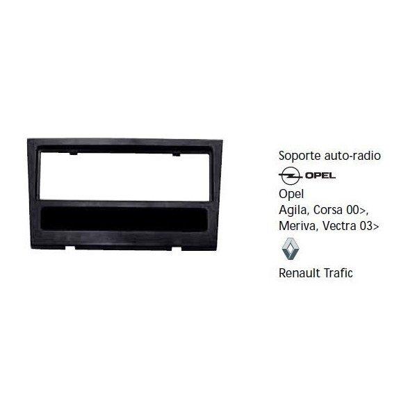 Soporte auto radio Opel Agila, Corsa 00-, Meriva, Vectra 03-, Renault Trafic Ref: TR602