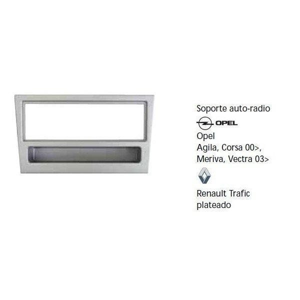 Fascia panel Opel Agila, Corsa 00-, Meriva, Vectra 03-, Renault Trafic Silver Ref: TR603