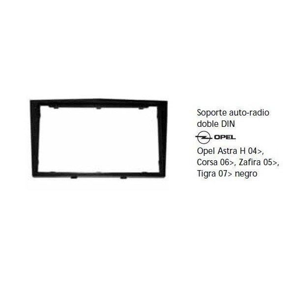 Soporte auto radio Opel Astra H 04-, Corsa 06-, Zafira 05-, Tigra 07- negro Ref: TR611