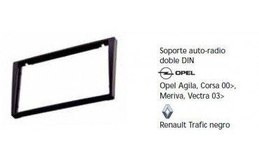 Fascia panel Opel Agila, Corsa 00-, Meriva, Vectra 03-, Renault Trafic black Ref: TR613