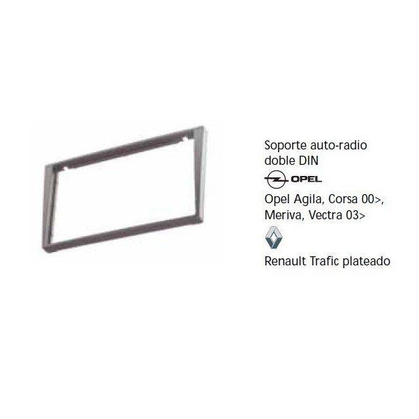 Fascia panel Opel Agila, Corsa 00-, Meriva, Vectra 03-, Renault Trafic silver Ref: TR614
