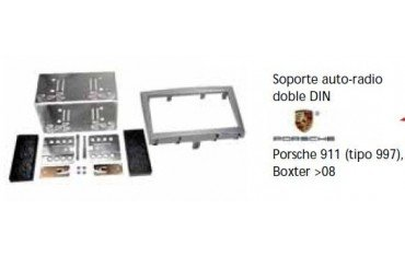 Fascia panel Porsche 911 (997), Boxter -08 Doble DIN Silver Ref: TR626