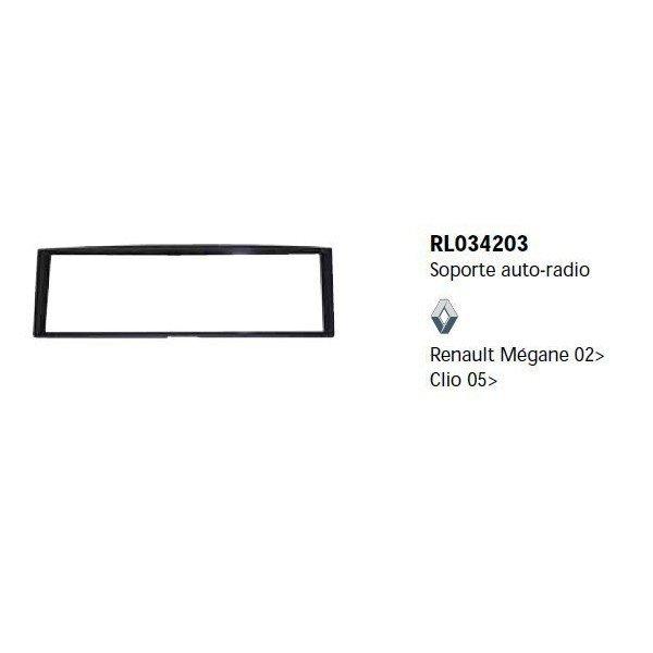 Soporte auto radio Renault Megane 02-, Clio 05- Ref: TR631