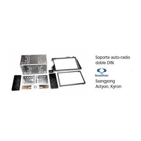 Soporte auto radio SsangYong Actyon, Kyron Doble DIN Ref: TR664
