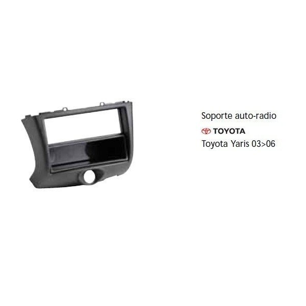 Soporte auto radio Toyota Yaris 03-06 Ref: TR676