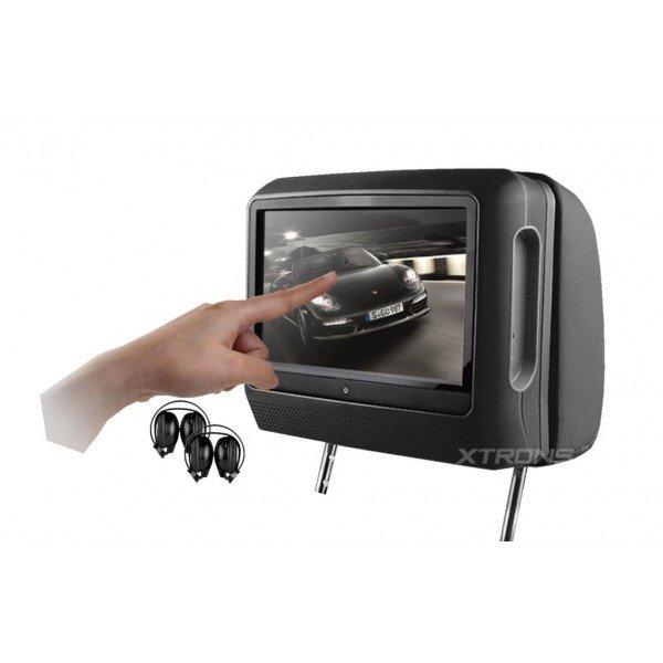2 Reposacabezas LCD, DVD, USB, SD y juegos. REF: TR1438