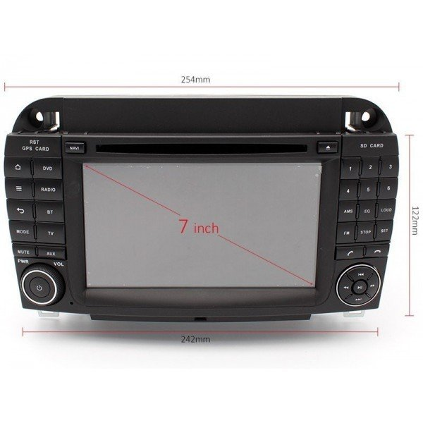 Mercedes S W220 Android gps
