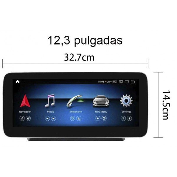 Monitor 12,3 inch GPS 4G BENZ ML W166 Android 10 TR3672