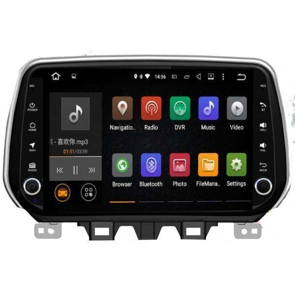 Radio DVD GPS Hyundai Tucson 2018 2019 TR3150 la mejor pantalla Android gps para Hyundai Tucson 2018 2019
