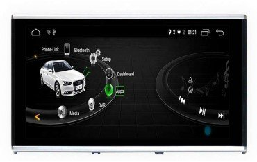 GPS Android 4G LTE Audi A6 C7 motorized screen TR3153