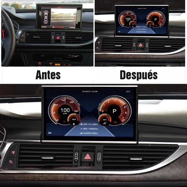 audi a6 c7 motorized screen android