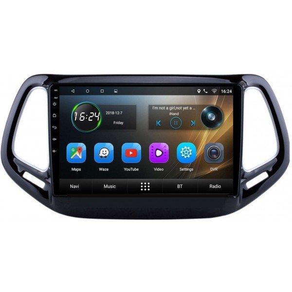 Radio navegador GPS Jeep Compass pantalla 10.2 Android TR3421