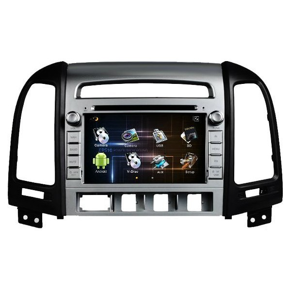 Radio DVD GPS Android PURO Hyundai Santa Fé (2006 / 2012) REF: TR1579