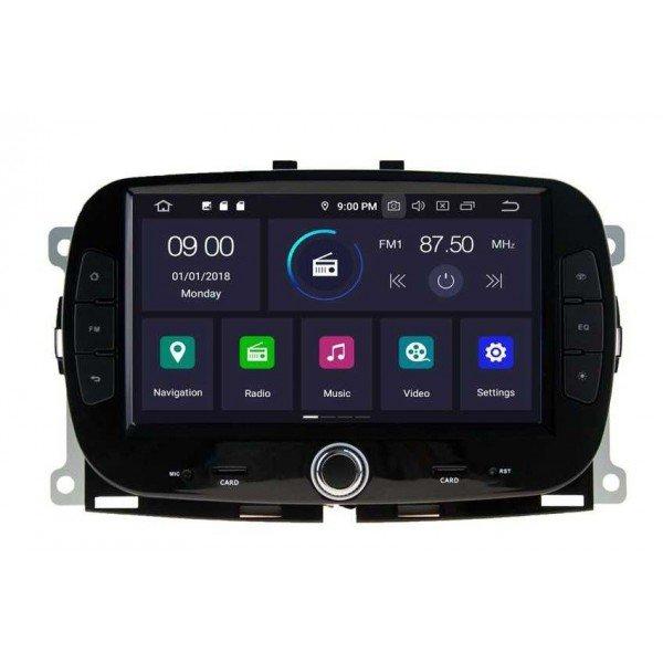 Radio navegador GPS Fiat 500 Android 10 TR3688