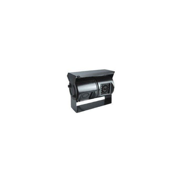 Dual top view parking camera