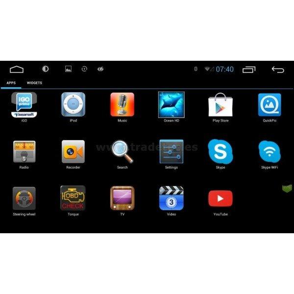 "2 DIN 10,1"" Radio GPS Android indash TR2136"