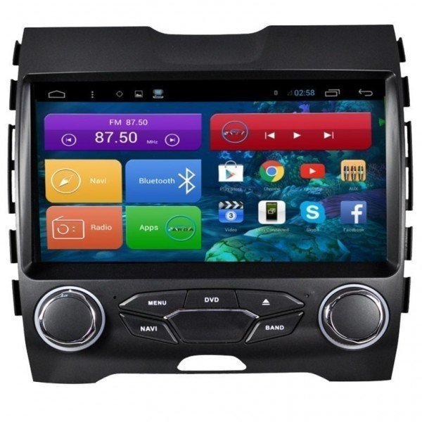 "Radio DVD 9"" GPS HD FORD EDGE 2015 ANDROID PURO REF: TR2237"