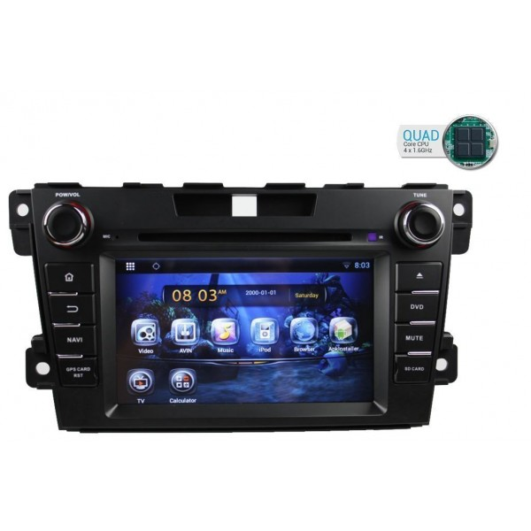 Radio Mazda CX-7 GPS Android QUAD CORE TR1707