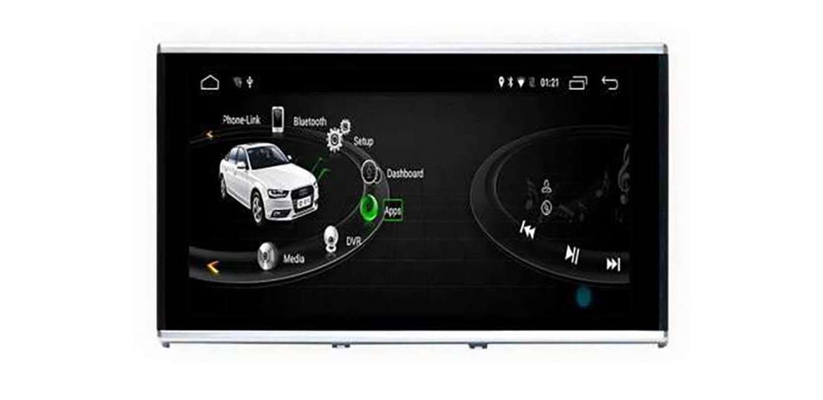 Video for Audi A6 C7 GPS Android 10 motorized screen and 4G SIM TR3153