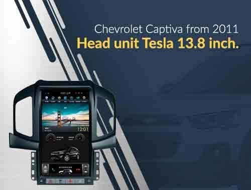 GPS head unit chevrolet captiva tesla style